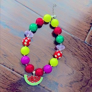 🍉 Chunky Bubblegum Watermelon 🍉 Necklace